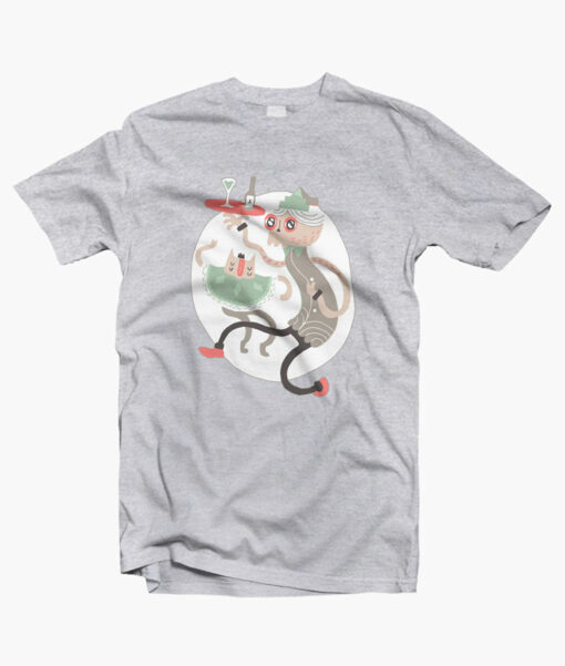 Wine O Clock T Shirt sport grey