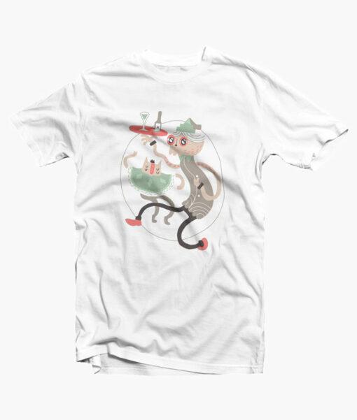 Wine O Clock T Shirt white