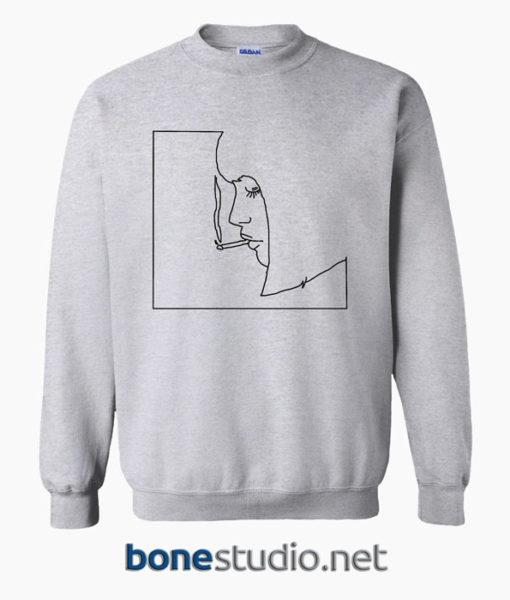 Girl Smoking Cigarette Sweatshirt