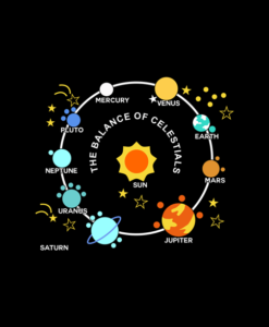 Planets Solar System and Stars T Shirt