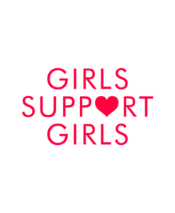 Girls Support Girls T Shirt Heart