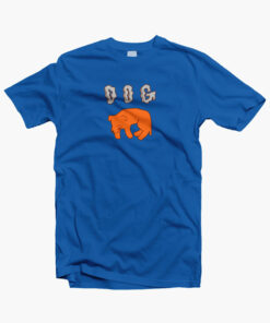 Dog Sleepy T Shirt royal blue