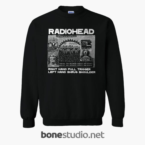 Everything In It's Right Place Radiohead Sweatshirt
