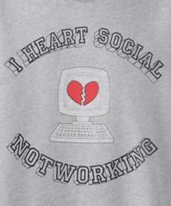 I Heart Social Not Working Sweatshirt