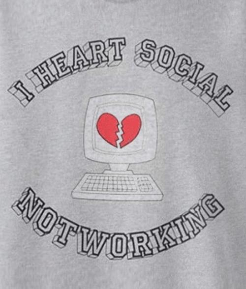 I Heart Social Not Working Sweatshirt