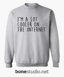 Im A Lot Cooler On The Internet Sweatshirt sport grey