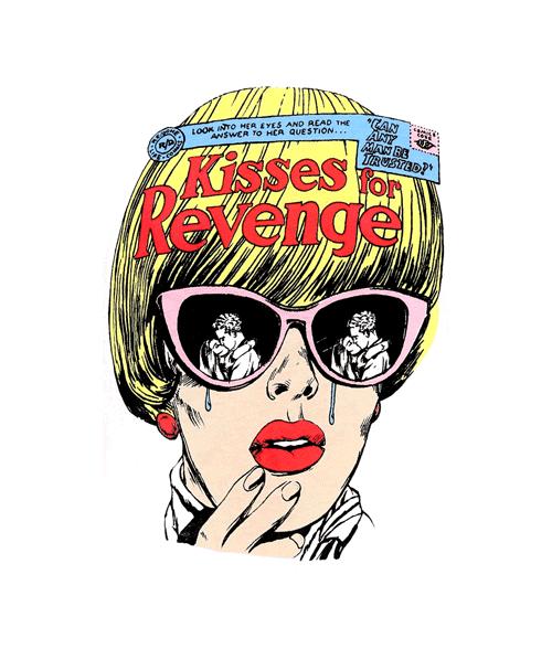 Kisses For Revenge T Shirt Retro