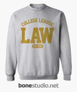LAW College League Est 1991 Sweatshirt sport grey