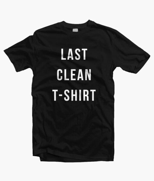 Last Clean T Shirt black