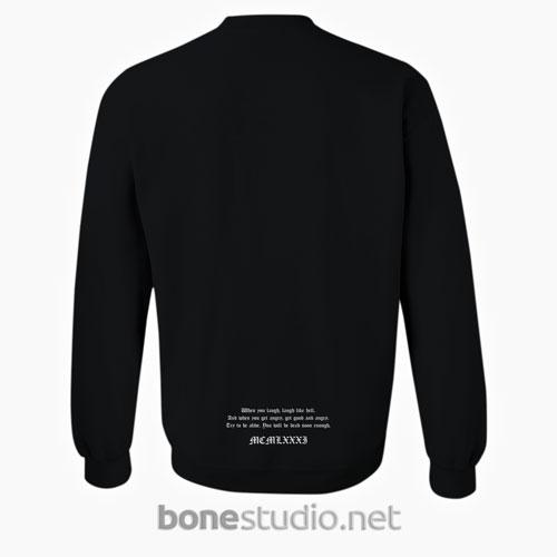 Laugh Like Hell Sweatshirt Back Black