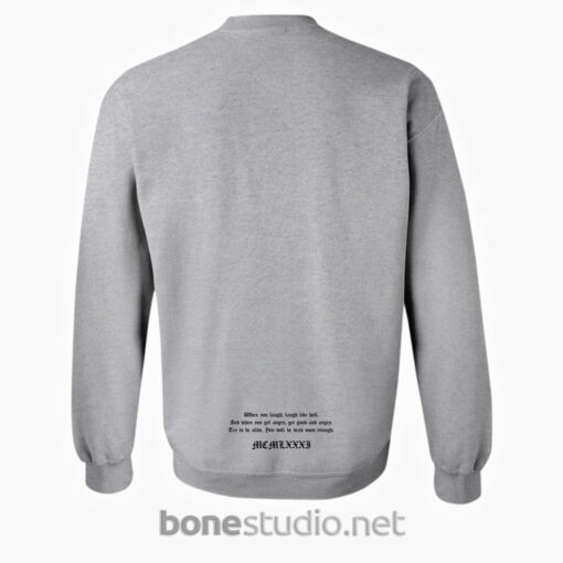 Laugh Like Hell Sweatshirt Back sport grey