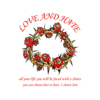 Love Hate Rose Flower T Shirt