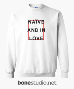 Naive And In Love T Shirt white