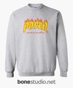 POSER Orenda Flame Sweatshirt sport grey