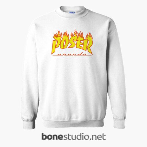 POSER Orenda Flame Sweatshirt white