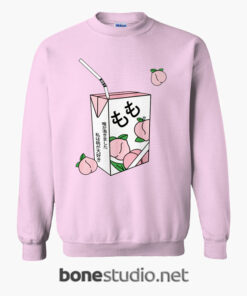 Peach Juice Japanese Kawaii Sweatshirt 1
