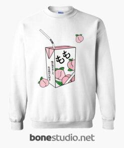 Peach Juice Japanese Kawaii Sweatshirt
