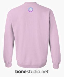 Peach Juice Japanese Kawaii Sweatshirt back pink