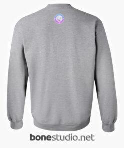 Peach Juice Japanese Kawaii Sweatshirt sport grey back