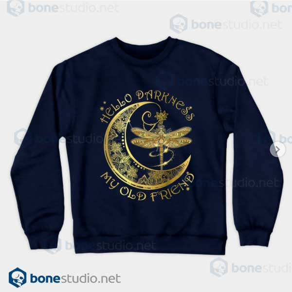 Silence And Darkness Navy Sweatshirt