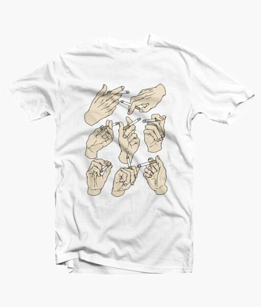 Smoking Style T Shirt white