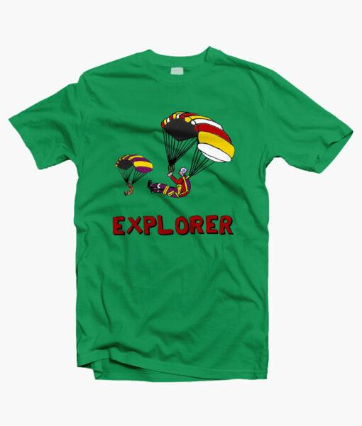 Stranger Things EXPLORERS T Shirt irish green