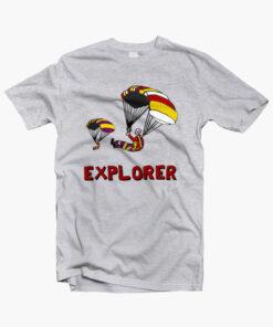 Stranger Things EXPLORERS T Shirt sport grey