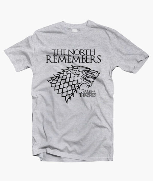The North Remember Game Of Thrones T Shirt sport grey