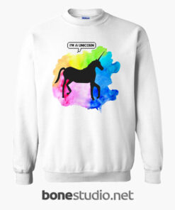 Unicorn Tie Sweatshirt