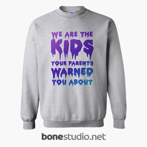 We Are The Kids Your Parents Warned You About Sweatshirt sport grey
