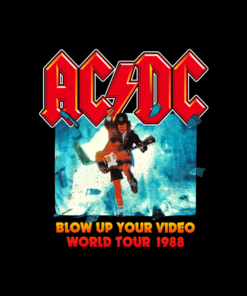 ACDC Blow Up Your Video World Tour 1988 Band T Shirt