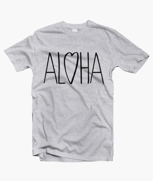 Aloha Love T Shirt sport grey