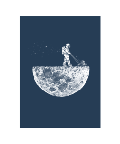Astronaut Mowing The Moon T Shirt