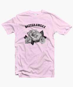 Bittersweet Flower Rose T Shirt pink
