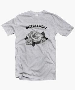 Bittersweet Flower Rose T Shirt sport grey