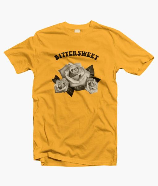 Bittersweet Flower Rose T Shirt yellow gold