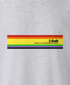 J Galt Rainbow Stripe Sweatshirt