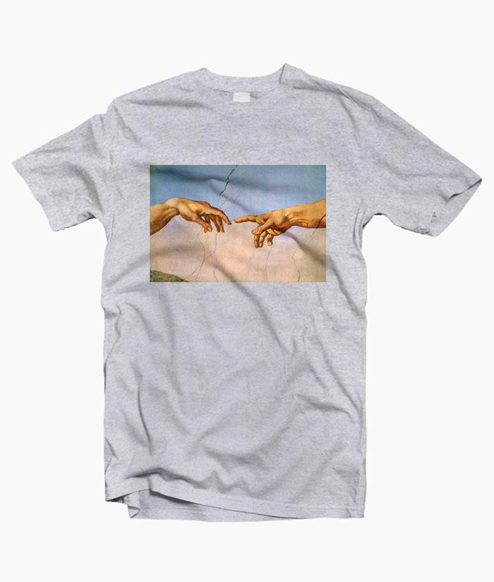 bfecb806 Michelangelo Hand Art T Shirt Size S-M-L-XL-2XL-3XL