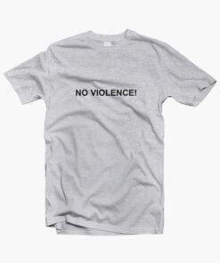 No Violence T Shirt sport grey