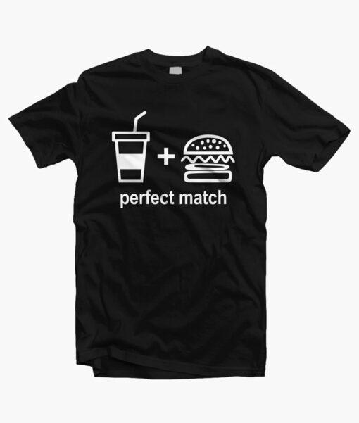 Perfect Match Drink Burger T Shirt black