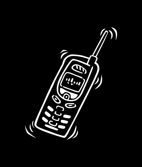 Phone Cell T Shirt Pocket