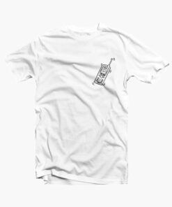 Phone Cell T Shirt Pocket white