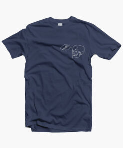 Pizza Skull T Shirt navy blue