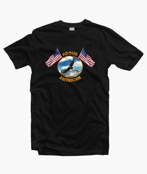 Proud American T Shirt black