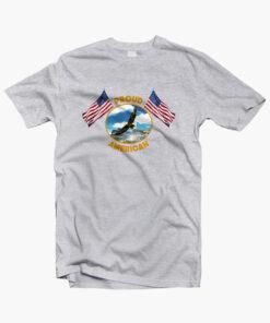 Proud American T Shirt sport grey