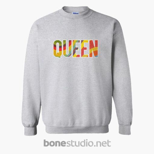 Queen Sweatshirt Retro sport grey