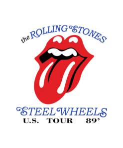 Rolling Stones Steel Wheels US Tour 1989 Band T Shirt