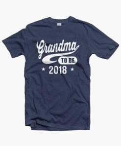 Grandma To Be 2018 T Shirt navy blue
