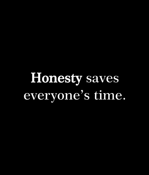 Honesty Saves Everyone's Time T Shirt