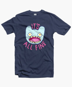 Its All Fine T Shirt navy blue